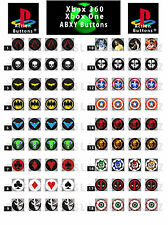 Custom ABXY/ Action Buttons: Xbox 360, XBOX ONE, PS3/PS4 Controllers - *CHOOSE *