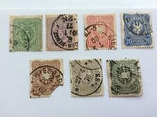1875 German Empire Eagle and Mark Rich 3 5 10 20 25 50 50Pfennigs Stamps
