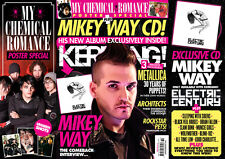 KERRANG Magazine Mikey Way CD MY CHEMICAL ROMANCE POSTER Metallica blink-182