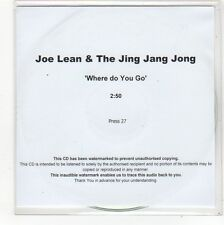 (FN778) Joe Lean & The Jing Jang Jong, Where Do You Go - DJ CD