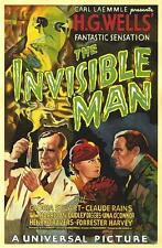 The Invisible Man Movie Poster Lithograph Claude Rains Hand Pulled S2 Art Ltd Ed