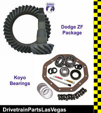 """Yukon Dodge ZF 9.25"""" 11-15 12 Bolt Rear Ring Pinion Gear Set 4.56 Ratio W Master"""