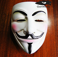 Qualità V per Vendetta RESINA Mask Fancy Dress Costume Party Falò