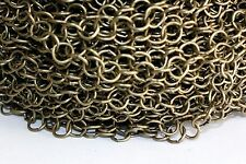 15ft Antique Bronze 8mm Rolo Cable Chain links 1-3 day Shipping