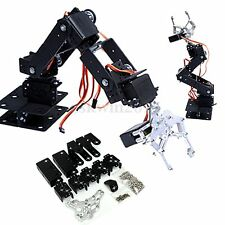 1 Set 6 DOF Aluminium Rotating Mechanical Robotic Arm Clamp Claw Mount Robot Kit