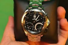 TAG HEUER CJF7110 LINK CALIBRE S CHRONOGRAPH STAINLESS STEEL WATCH + WARRANTY