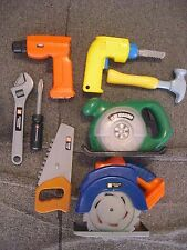 Wood Working Planer Home Kids Little Tool Playset Circular saw drill screw