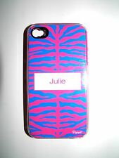"""PERSONALIZED NAME COVER FOR IPHONE 4/4S WITH 2 LAYERS """"JULIE"""" NEW"""