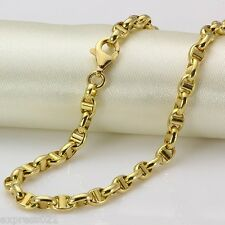 Down Price Solid 18k Yellow Gold Necklace/ Heavy Link Chain Necklace /4.15g
