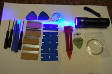 5ML LOCA GLUE, 9 LED UV TORCH, PLASTIC BLADE, OPENING TOOL SET FOR MOBILE PHONE