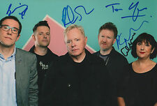 New Order Band full signed 8x12 inch photo autographs
