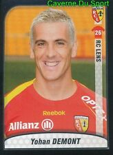 139 YOHAN DEMONT FRANCE RC LENS STICKER FOOT 2010 PANINI