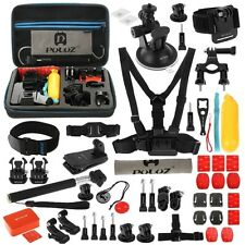 PULUZ SET ACCESSORI KIT 53 IN 1 SUPPORTO FASCIA CASCO GOPRO HD HERO 4 SESSION-