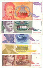 Lot of 5 different YUGOSLAVIA Banknotes Collection ~~ Circulated / Cond~XF & VF