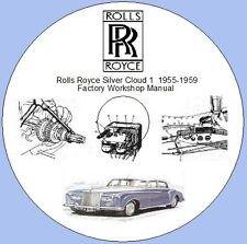 Rolls Royce Silver Cloud 1 Fábrica Manual De Taller Y Piezas Lista