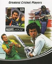 2014 GREATEST CRICKET PLAYERS SACHIN TENDULKAR IMPERFORATED MNH STAMP SHEETLET