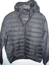 New EXPRESS Men's $158 Quilted Down Fill Hooded Puffer Jacket Coat Black L