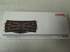 Märklin H0 24624 C-Gleis Doppelkreuzungsweiche mit Elektroantrieb , Neuware,