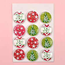 HOLIDAY BUTTONS Wooden Christmas - 2039 - Dress it Up Buuttons Galore