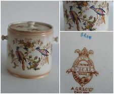 Crown Ducal A. G. Richardson  Blush Ware Hand Painted Biscuit Barrel