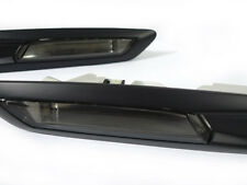DEPO 2011-13 BMW F10/F11 4D SMOKE MATTE FLAT BLACK TRIM FENDER SIDE MARKER LIGHT