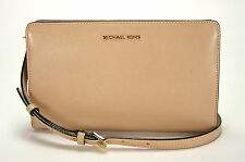 Michael Kors Jet Set Travel Large Crossbody Clutch Bag Purse Oyster New NWT
