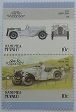 1934 SINGER NINE 9 Car Stamps (Leaders of the World / Auto 100)