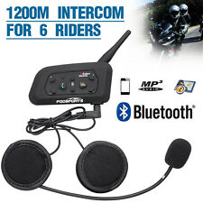 Intercomunicador Bluetooth Auriculares Manos Libres Impermeable para Moto Casco