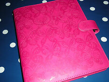 FILOFAX STYLE PINK DEBOSS A5 ORGANISER BUTTERFLIES BN WITH 2017 genetic  DIARY