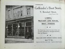 Antique 1903 Gellenders Military Boot store JERSEY CHANNEL ISLANDS Advertisement