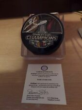 Chicago Blackhawks Marcus Kruger Singed Stanley Cup 2013 puck with Coa