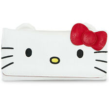"NEW Loungefly X HELLO KITTY Red/White ""BIG FACE"" Flap Wallet -SALE"