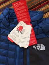 NORTH FACE THERMOBALL PULLOVER Jacket DISH BLUE Color Mens LARGE Retail $160