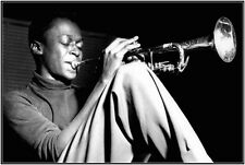 Miles Davis Playing The Trumpet Music Poster Print Jazz Blues Live New 36x24 A9