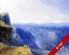 THE CAUCASUS MOUNTAINS EURASIA LANDSCAPE RUSSIAN PAINTING ART REAL CANVAS PRINT