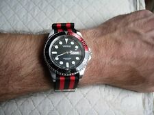 "20 mm BRACELET NATO ""JAMES BOND PEPSI"" ROUGE & NOIR"