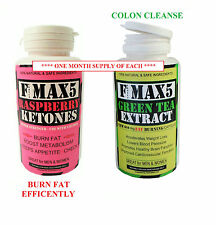 Raspberry Ketone Plus Colon Cleanse Weight Loss Slimming Diet Pills Tablets 58