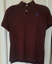 AMERICAN EAGLE OUTFITTERS Maroon Short Sleeve Polo Shirt Men's Size XL