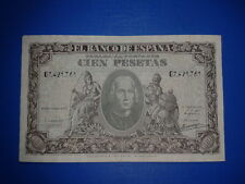 SPAIN BILLETE 100 PESETAS 1940 CRISTOBAL COLON EBC- SERIE G7421761