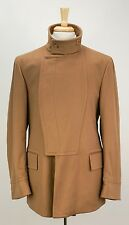 Rare GUCCI Tom Ford Era Camel Tan Wool Double Breasted Belted Back Coat M 50