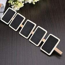10Pcs New Mini Blackboard Chalkboard Wooden Peg Clip Wedding Party Card Ass SP