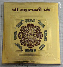 MAHA LAKSHMI LAXMI YANTRA PREMIUM YANTRAM CHAKRA FOR WEALTH & SUCCESS ENERGISED