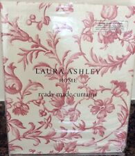 """Laura Ashley Ironwork Scroll Curtains in Cranberry Red 88"""" x 90"""" / 223 x 229cm"""