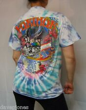 FURTHER FESTIVAL Winter 2010 tie dye 2 sided T-Shirt Grateful Dead Weir Lesh M-L