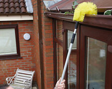 Extendable Telescopic Gutter Brush Tool Leaves Moss Rubbish Drain Roof Debris