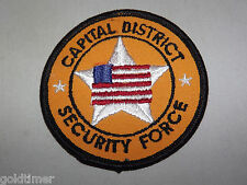 VINTAGE POLICE PATCH NEW YORK CAPITAL DISTRICT SECURITY FORCE