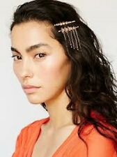 NWT Free People Star Droplet Bobby Pin Set Rose Gold Chain