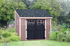 Shed Plans, 6' x 8' Backyard Storage,  Lean To Roof Style Design # D0608L