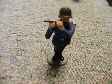 Elastolin 70mm WW2 German Fire Brigade Band 1939 era-Flute player