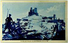 Cartolina Formato Piccolo - Montemale - Rovine Del Castello Alt. m 960 Viaggiata